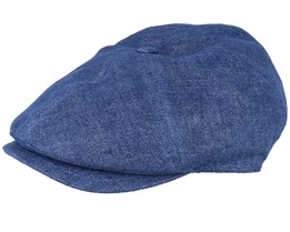 Rebel Linen Blue Mell. Flat Cap - MJM Hats