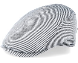 Bang Cotton Mix Blue Stripe Flat Cap - MJM Hats