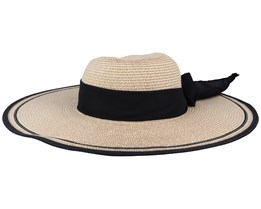 Daisy Women Paper Natural/Black Sun Hat - MJM Hats