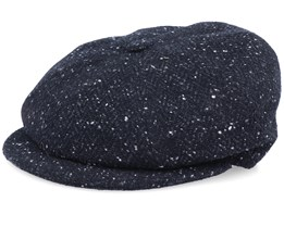 London Wool Black Donegal Flat Cap - MJM Hats