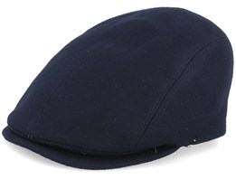 Daffy 3p Eco Merino Wool Black Flat Cap - MJM Hats