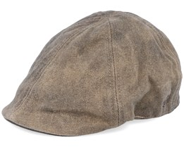 Delft Cotton Brown Flat Cap - MJM Hats