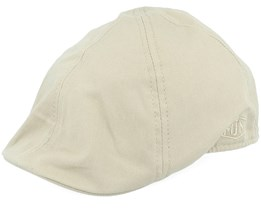 Tiel Organic Cotton Beige Flat Cap - MJM Hats
