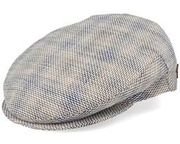 Oliver Linen/Cotton Beige Mix Flat Cap - MJM Hats
