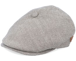 Rebel Wool Mix Beige Flat Cap - MJM Hats