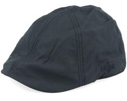 Jones Taslan Black Flat Cap - MJM Hats