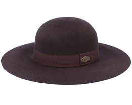 Masha W Wool Felt Brown Sun Hat - MJM Hats