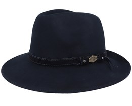 Levi Woolfelt Wr Crush. Black Fedora - MJM Hats