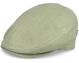 Jordan Organic Hemp Green Flat Cap - MJM Hats