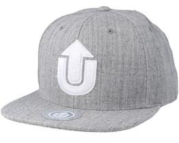 Logo Light Grey/White Snapback - Upfront