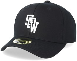 Kids Drop Baseball Cap Black Adjustable - State Of Wow