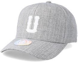 United Terry Baseball Cap Light Grey Melange Adjustable - State Of Wow