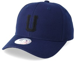 United Terry Baseball Cap Navy/Black Adjustable - Upfront