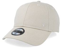 Wolf Baseball Cap Beige Adjustable - State Of Wow