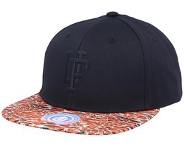 Picton Black/Jungle Orange Snapback - Upfront