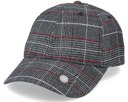 Chin Soft Baseball Black/Grey Checkered Adjustable - Upfront