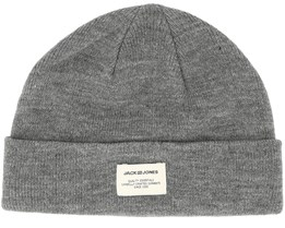 Jacaue Short Grey Beanie - Jack & Jones