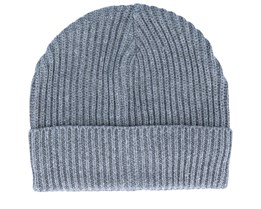 Jacrib Knit Grey Short Beanie - New Era