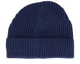 Jacrib Knit Navy Short Beanie - New Era