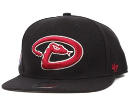 Arizona Diamondbacks Sure Shot Black Snapback - 47 Brand