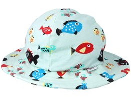 Kids Sun Hat Swimming Fish Blue Bucket - JNY Kids