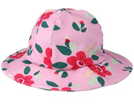 Kids Sun Hat Hibiscus Pink Bucket - JNY Kids