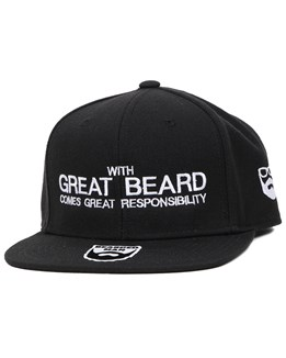 e838c7344 Responsibility Black Snapback - Bearded Man
