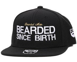 Since Birth Black Snapback - Bearded Man