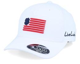 Clover Nation White/Red & Navy 110 Adjustable - Black Clover