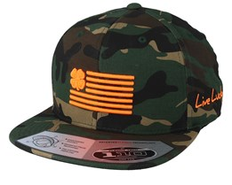 Clover Nation Camo Urban Green Camo/Orange 110 Snapback - Under Armour