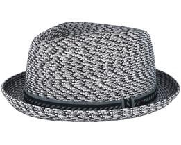 Mannes Charcoal Multi Grey Fedora- Bailey