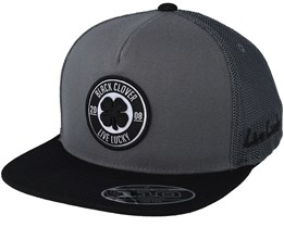 Anniversary Patch Flat Charcoal/Black Snapback - Black Clover