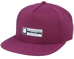Riptide Luck 5 Maroon Snapback - Black Clover
