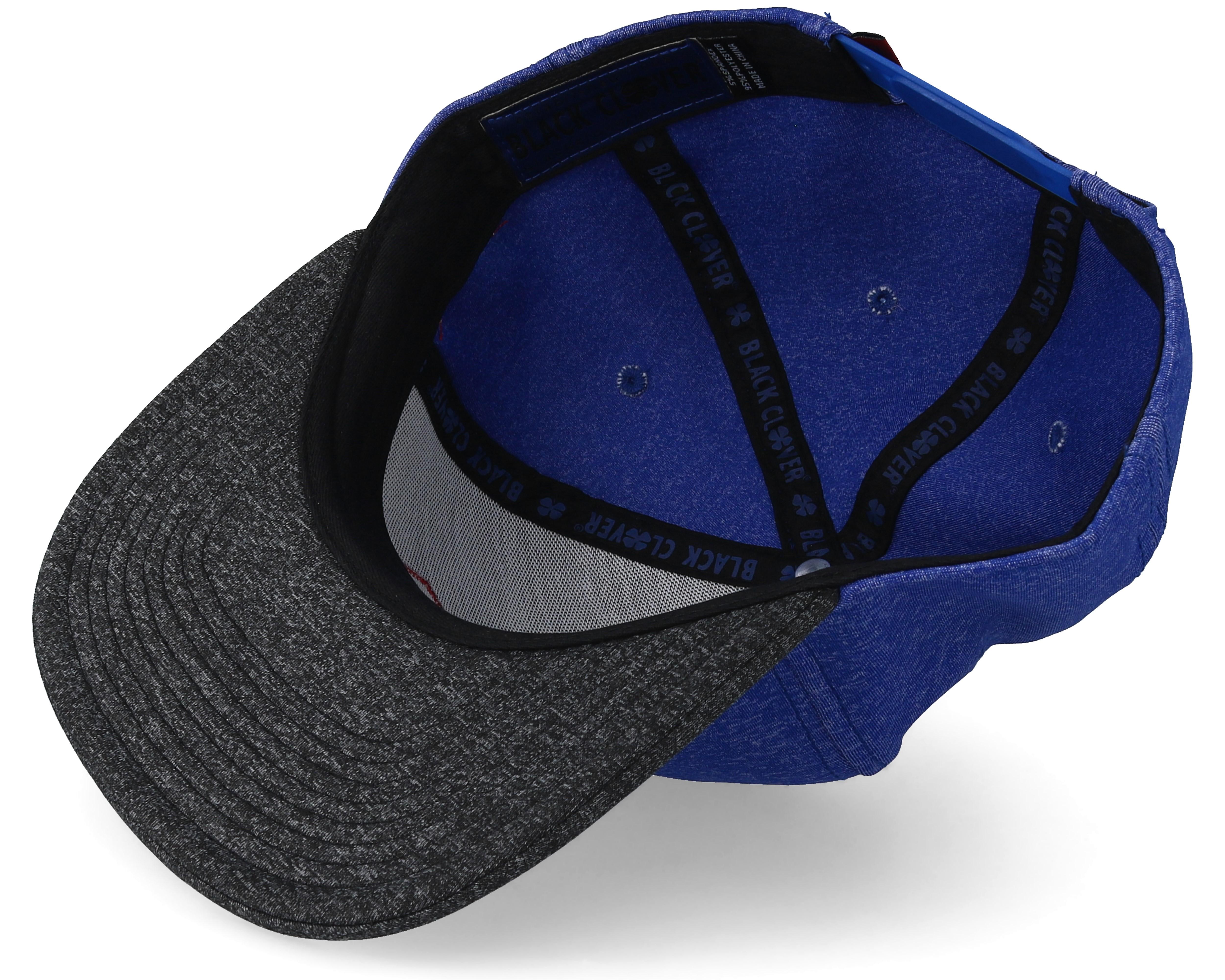 Street Luck Blue Charcoal Snapback Black Clover Caps