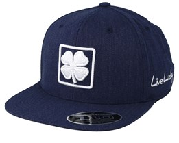 Lucky Square Navy/White 110 Snapback - Black Clover
