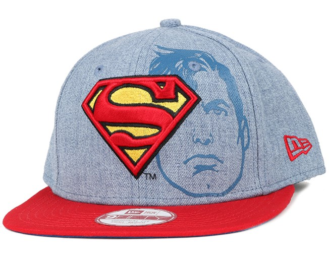 b5a10a03d1b Superman Heather Face 9Fifty Snapback - New Era caps - Hatstoreworld.com