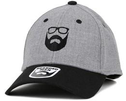 Logo Grey/Black Flexfit - Bearded Man