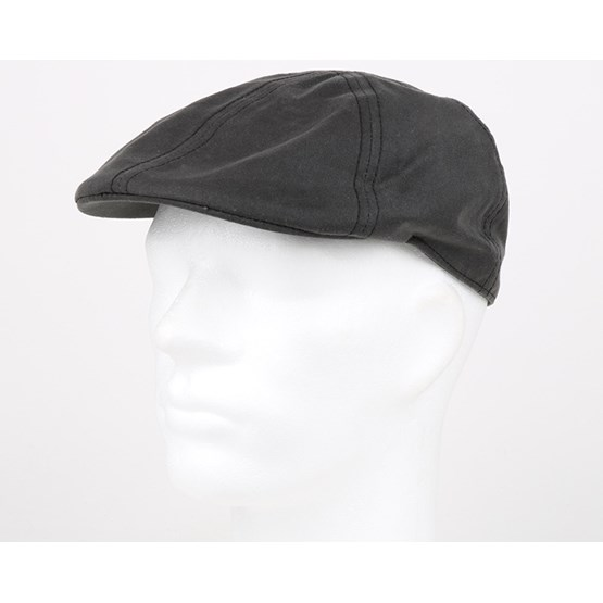 6be51c0da Texas Waxed Cotton Black Flap Cap - Stetson