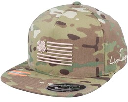 MultiCam Clover Nation Urban Tan Camo Snapback - Black Clover