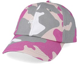 Camo Dad Hat Pink/Grey Adjustable - Hype