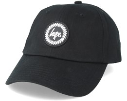 Crest Dad Hat Black Adjustable - Hype