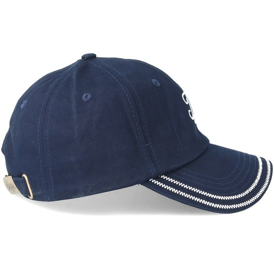 7e62221f58c78 Contrast Stitch Dad Hat Navy White Adjustable - Hype caps