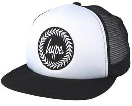 Crest White/Black Trucker - Hype