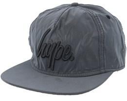 Reflective Script Charcoal/Black Snapback - Hype