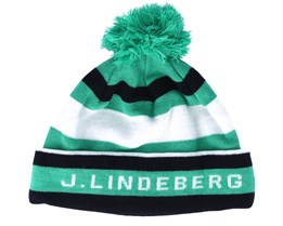 Stripe Golf Green/Blue Beanie - J.Lindeberg