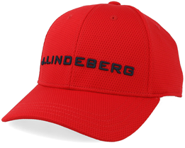 Aiden Pro Poly Deep Red/Black Adjustable - J.Lindeberg