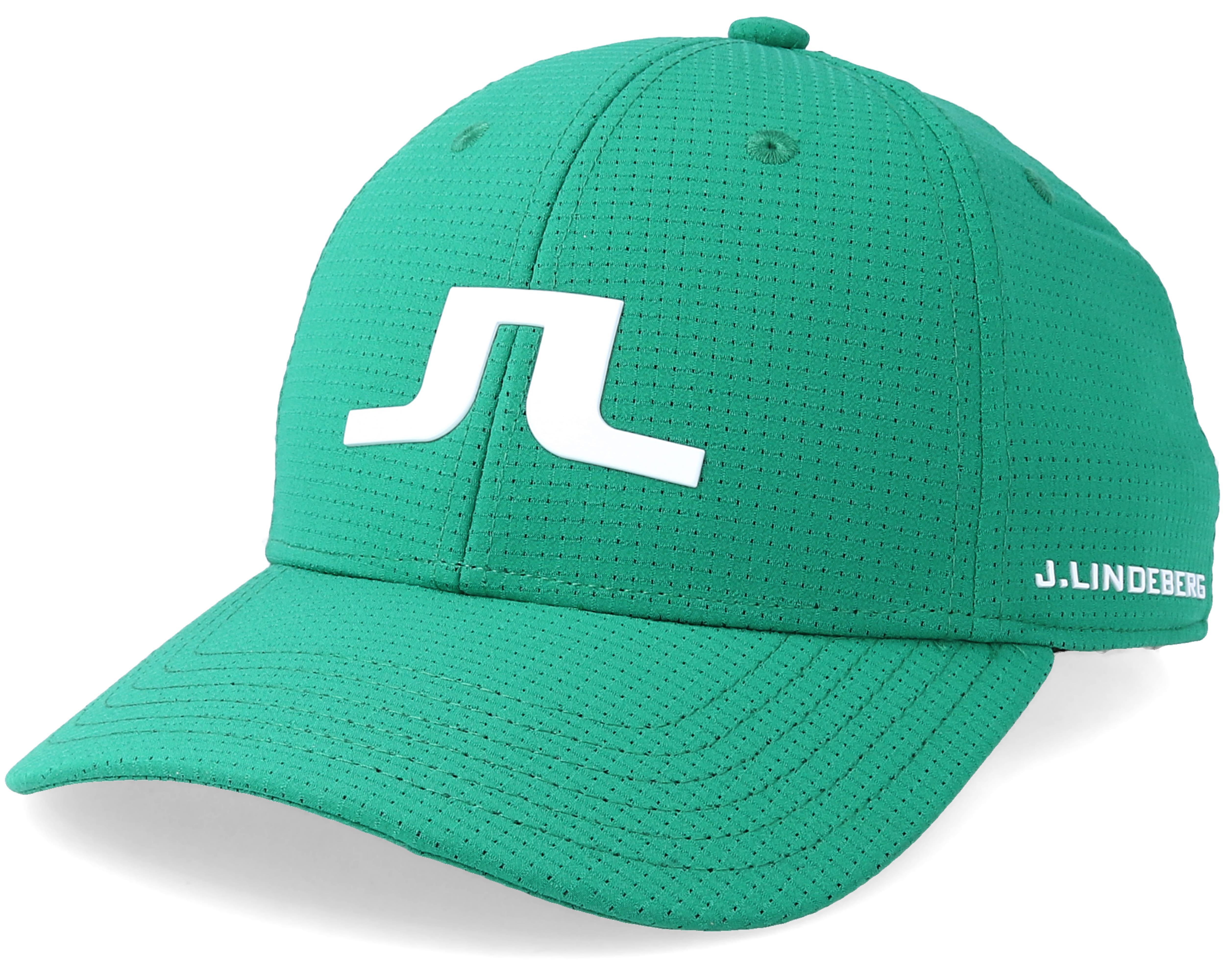 Caden Golf Green White Adjustable J Lindeberg Caps
