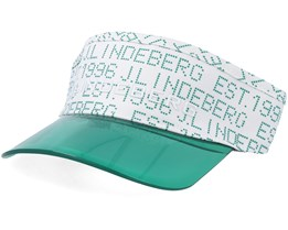 Cody Flexi Twill White/Green Visor - J.Lindeberg