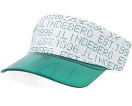 Cody Flexi Twill White/Green Visor - J.Lindeberg