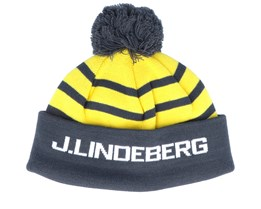 Stripe Ball Wool Blend Yellow/Charcoal Pom - J.Lindeberg